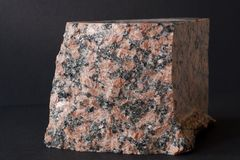 Granite mineral on black royalty free stock photography