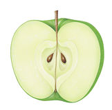 Piece of Green Apple Stock Image