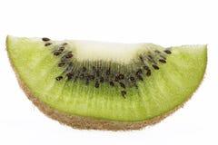 Piece of green kiwi isolated on white background Stock Image