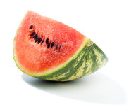 Piece of green water melon Stock Photos