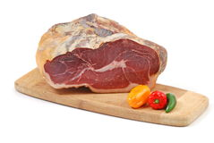 Piece of ham Royalty Free Stock Photography