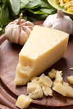 Piece of hard cheese Stock Photo