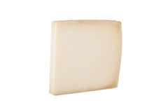 Piece hard cheese isolated on a white background Royalty Free Stock Photos