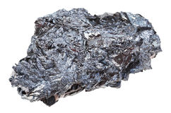Piece of hematite iron ore stone isolated Stock Photography