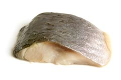 Piece of herring. On a white background Royalty Free Stock Image