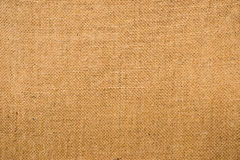 Piece of hessian fabric showing the woven pattern and texture royalty free stock image