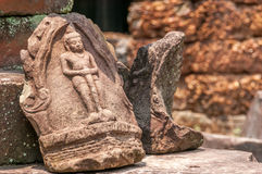 A Piece of The History. In Angkor Complex Stock Photo