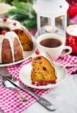Piece of holiday bundt cake Stock Photos
