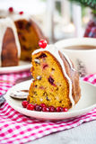 Piece of holiday bundt cake Stock Photos