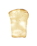 Piece of home-cooked bread isolated on white background Royalty Free Stock Images