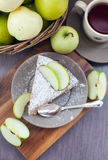 Piece of homemade apple pie with cinnamon Royalty Free Stock Image