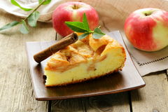 Piece of homemade apple pie with cinnamon Stock Image