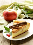 Piece of homemade apple pie with cinnamon Royalty Free Stock Images