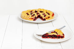 Piece of homemade berry pie Royalty Free Stock Photo