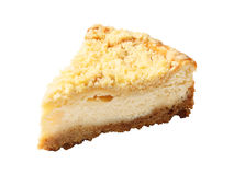 Piece of homemade cheesecake Stock Photos