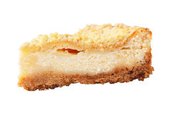 Piece of homemade curd pie Royalty Free Stock Images