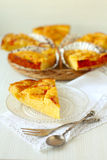 A piece of homemade peach pie Royalty Free Stock Image