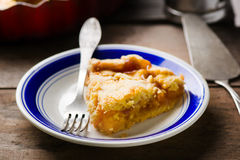 Piece of homemade peaches  pie Royalty Free Stock Image