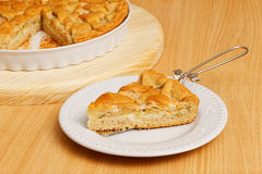 Piece of homemade pie with apples and pears Stock Image