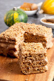 Piece of honey cake Royalty Free Stock Photography