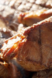 Piece of hot smoked tasty pork meat, yummy! Royalty Free Stock Image