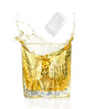Piece of ice and alcohol cocktail Royalty Free Stock Photo