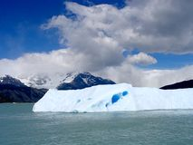 Piece of ice detached from the glacier in Patagonia stock image