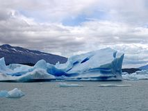 Piece of ice detached from the glacier in Patagonia, Argentina stock photography