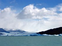 Piece of ice detached from the glacier in Patagonia stock photos