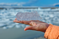 Piece of ice. Jokulsarlon a lake in Iceland Royalty Free Stock Photo