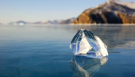 Piece of ice on the lake Royalty Free Stock Image