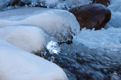 A piece of ice on the river Stock Images