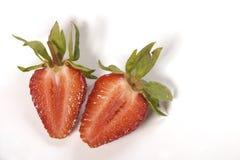 Piece of isolated strawbery Stock Image