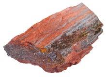 Piece of itabirite stone isolated Stock Photos