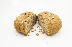Piece Italian Bread. Seeded of Italian bread in white background Stock Photo