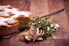 Piece Of Italian Pastiera Stock Photos