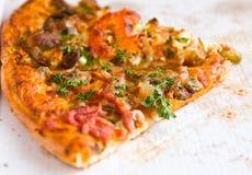 Piece italian pizza stock photography