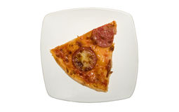 Piece of italian pizza on the plate Stock Images