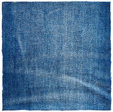 Piece of jeans fabric Royalty Free Stock Photos