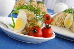A piece of jellied chicken and egg Royalty Free Stock Photo
