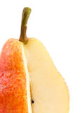 Piece of a juicy pear. Stock Photo