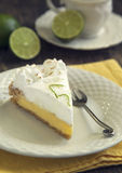 Piece of key lime pie Stock Photography