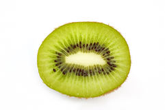 Piece of kiwi. Isolated on white background Stock Photos