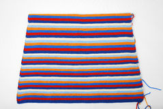 Piece of knitted cloth royalty free stock photo
