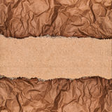 A piece of kraft paper on the background Royalty Free Stock Image