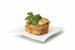 piece of lasagna Royalty Free Stock Images
