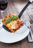 Piece of Lasagne Stock Image