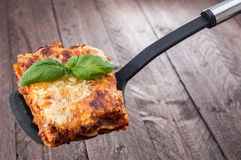 Piece of Lasagne Stock Photos