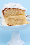Piece of lemon cake Stock Photos