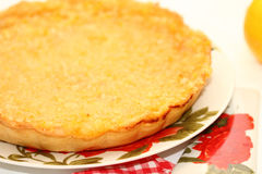 Piece of lemon pie Stock Images